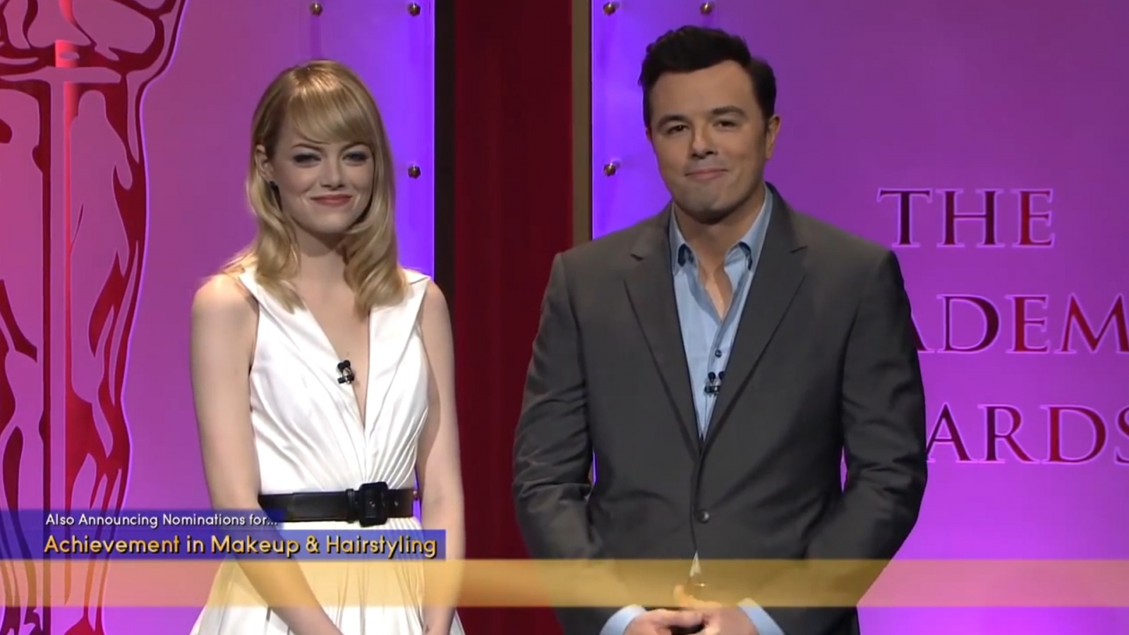 Watch Seth MacFarlane's joke about Harvey Weinstein from the 2013 Oscars announcements