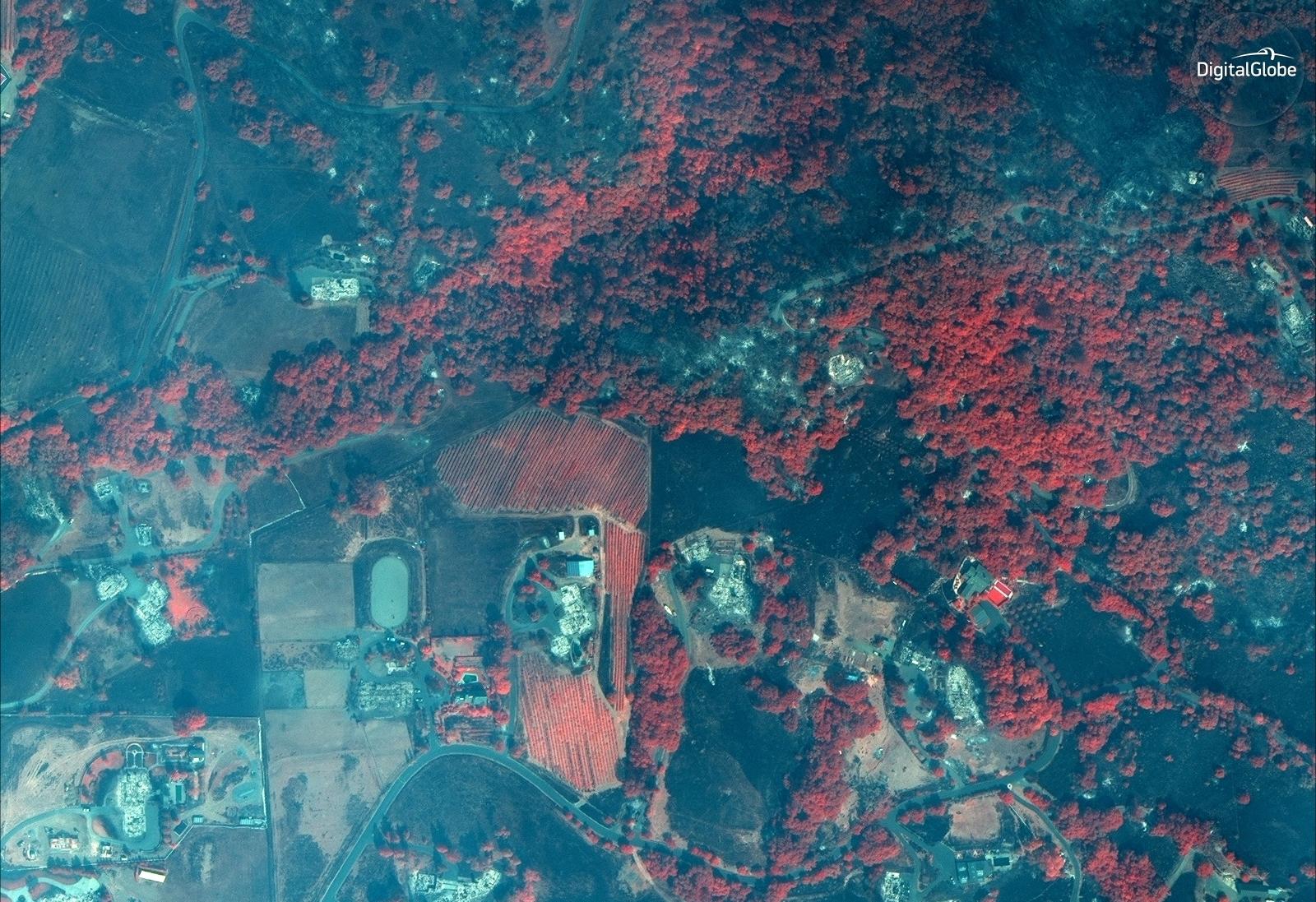 California Santa Rosa Fire Damage October