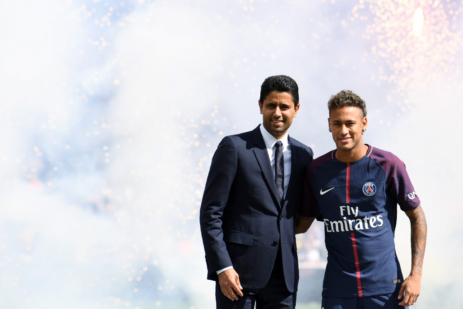 Nasser Al-Khelaifi and Neymar
