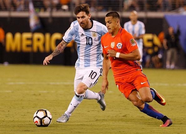 Lionel Messi and Alexis Sanchez