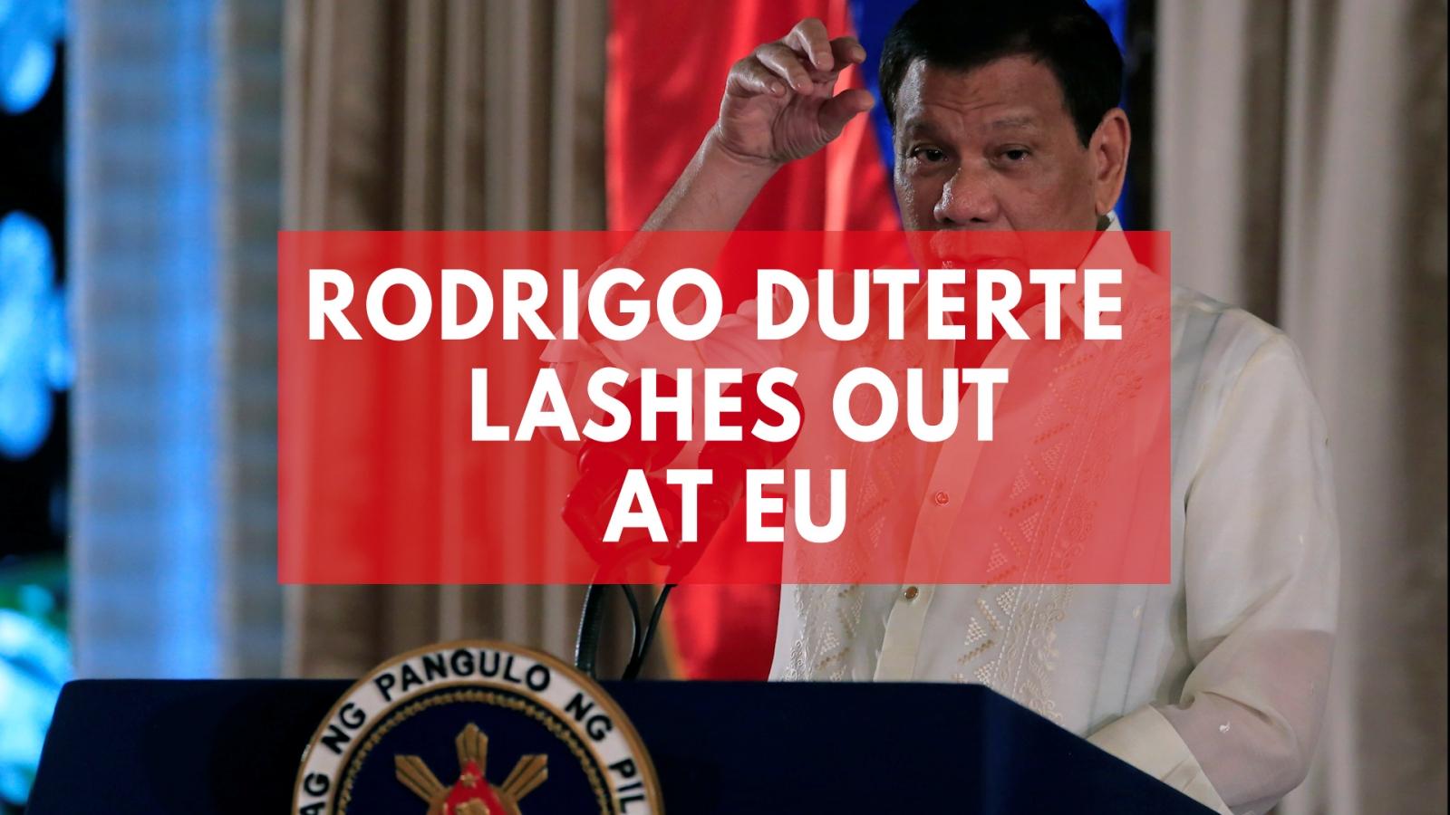 Philippines' Duterte lashes out at EU on UN expulsion threat