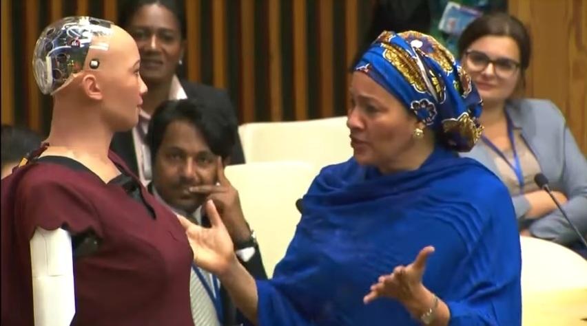 Sophia at the UN