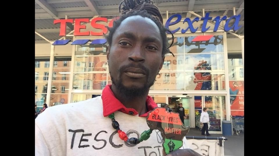 who was sacked from Tesco after accusations of stealing has spent the night protesting in the supermarket's roof