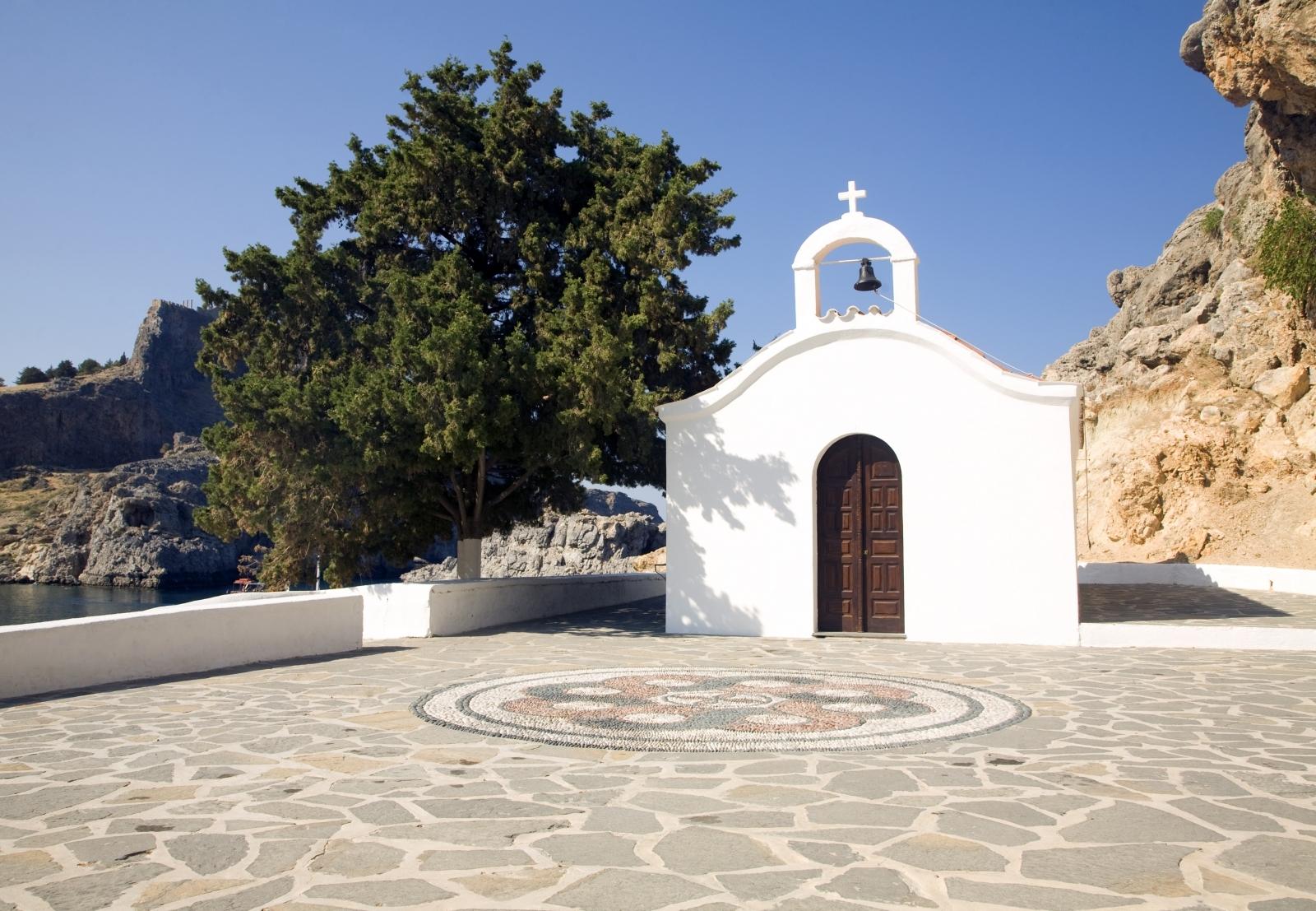 Saint Paul's chapel, Lindos, Rhodes, Greece