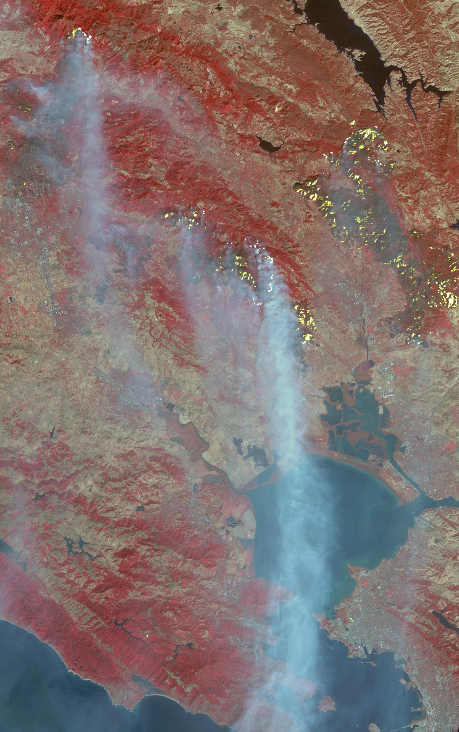 NASA California wildfire