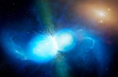 gravitational wave - two neutron stars merging