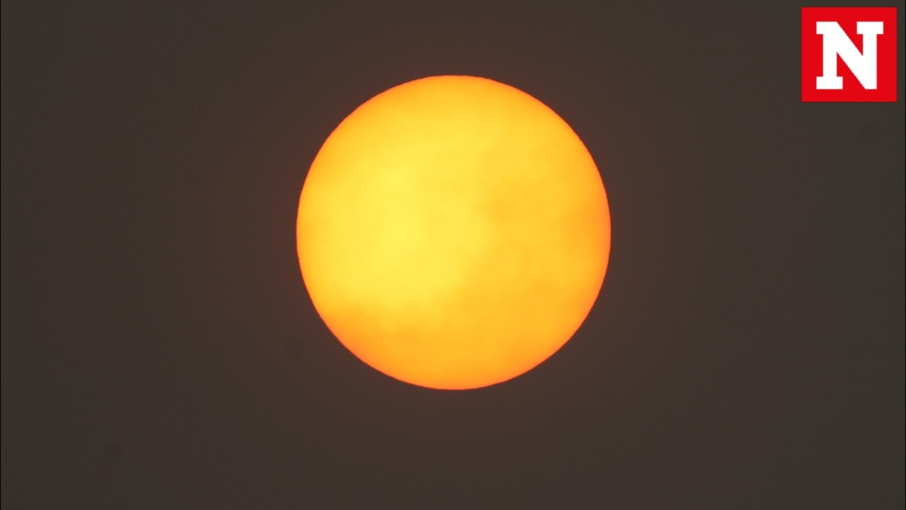 Britain's sky has a red sun and social media has gone crazy