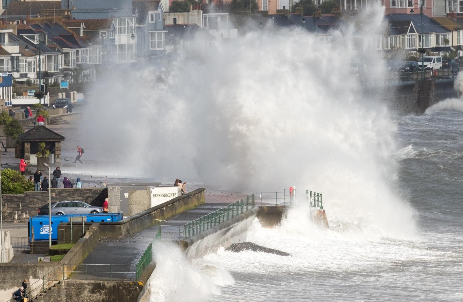 Storm Ophelia batters Britain