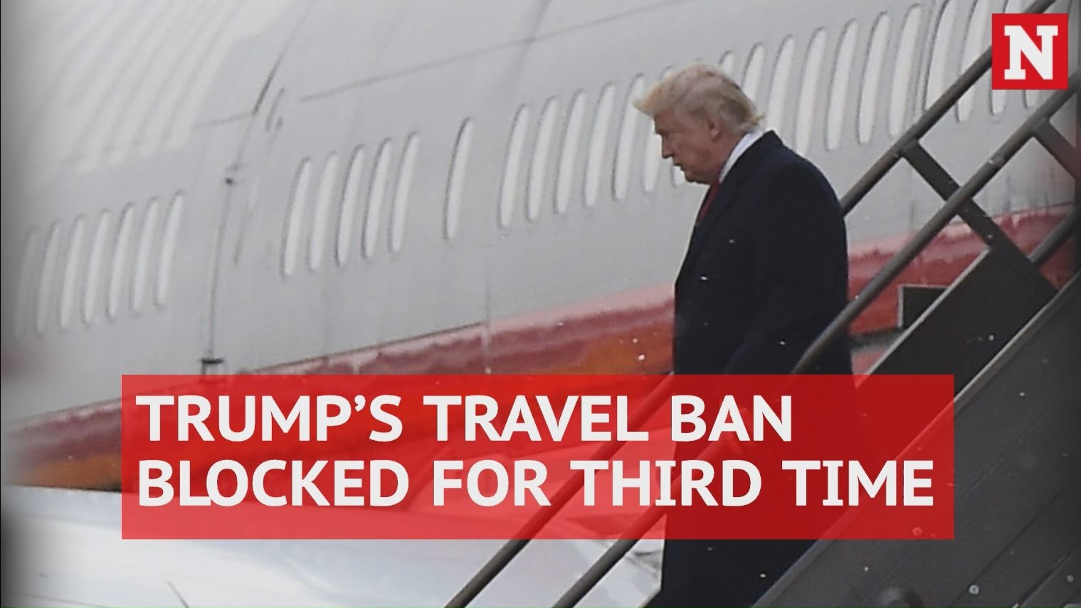 President Trump's travel ban blocked for third time by Hawaii federal judge