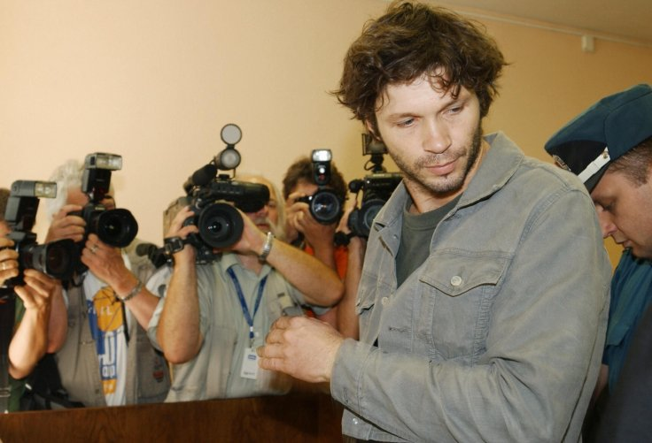 Singer Bertrand Cantat enters a court in 2003 in Vilnius, Lithuania following the death of his actress girlfriend Marie Trintignant