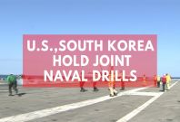 USS Ronald Reagan Takes Part In Joint Naval Drills With South Korea