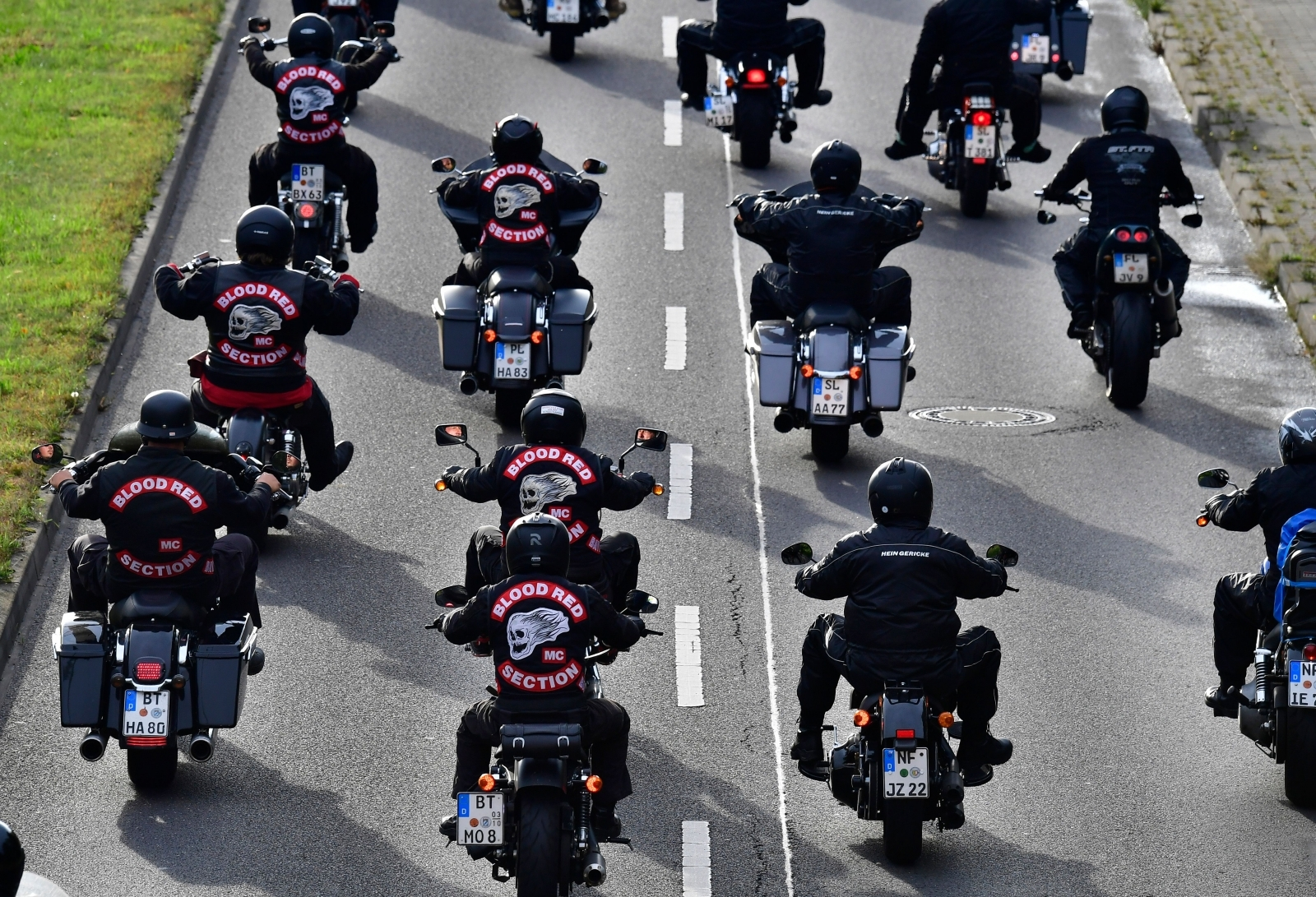 GERMANY-HELLS-ANGELS-DEMONSTRATION