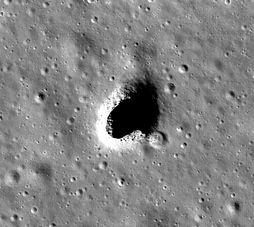 Lava tube on the moon