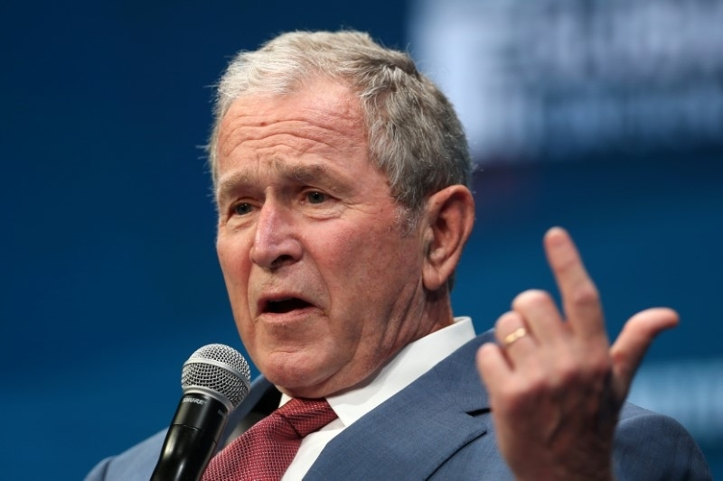 'Bigotry seems emboldened': George W Bush aims veiled criticism at Donald Trump