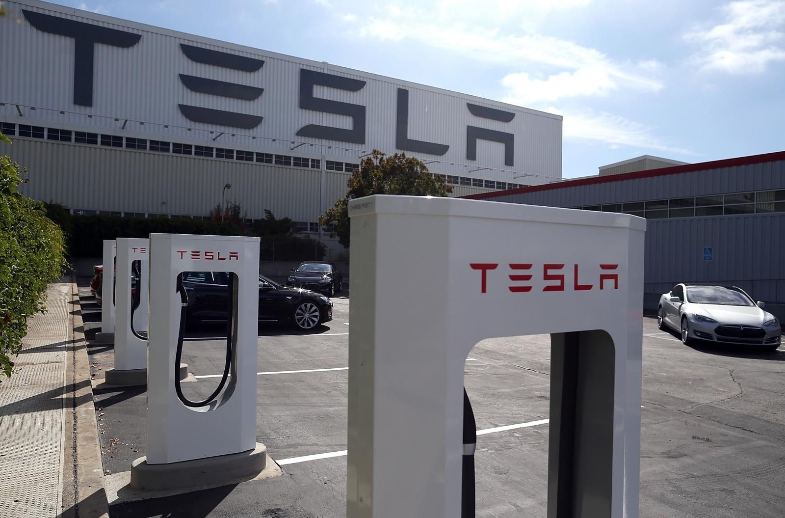 Tesla Fremont factory logo