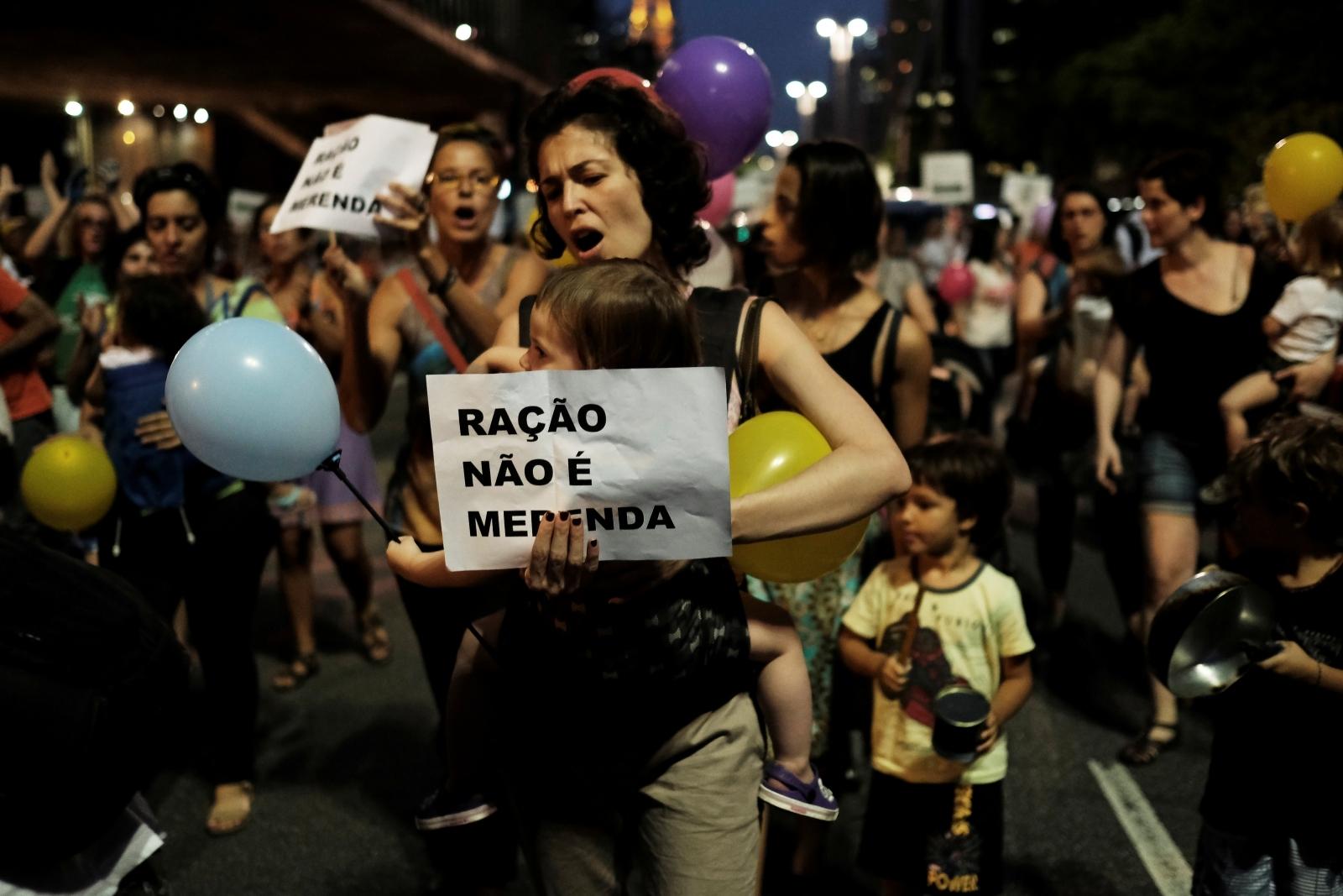 Sao Paulo food protest