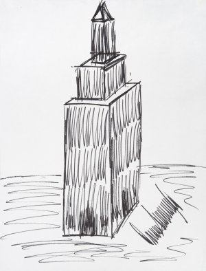 Trump sketch of Empire State Building