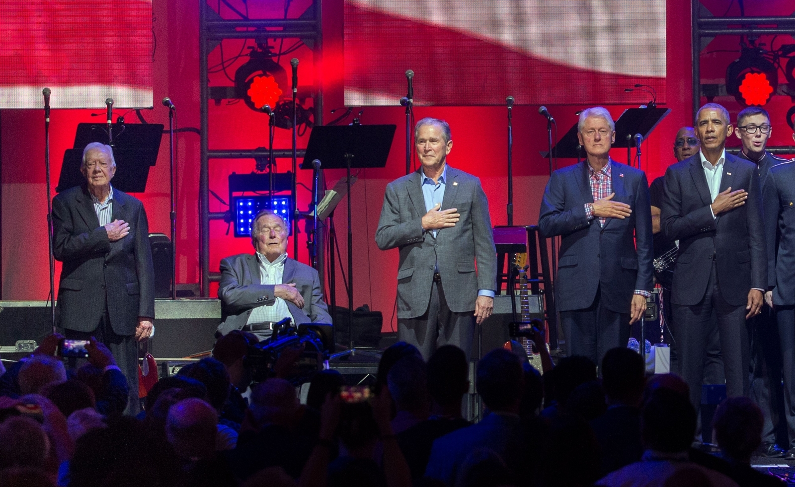 Five Former US Presidents Join Forces at Relief Concert Saturday