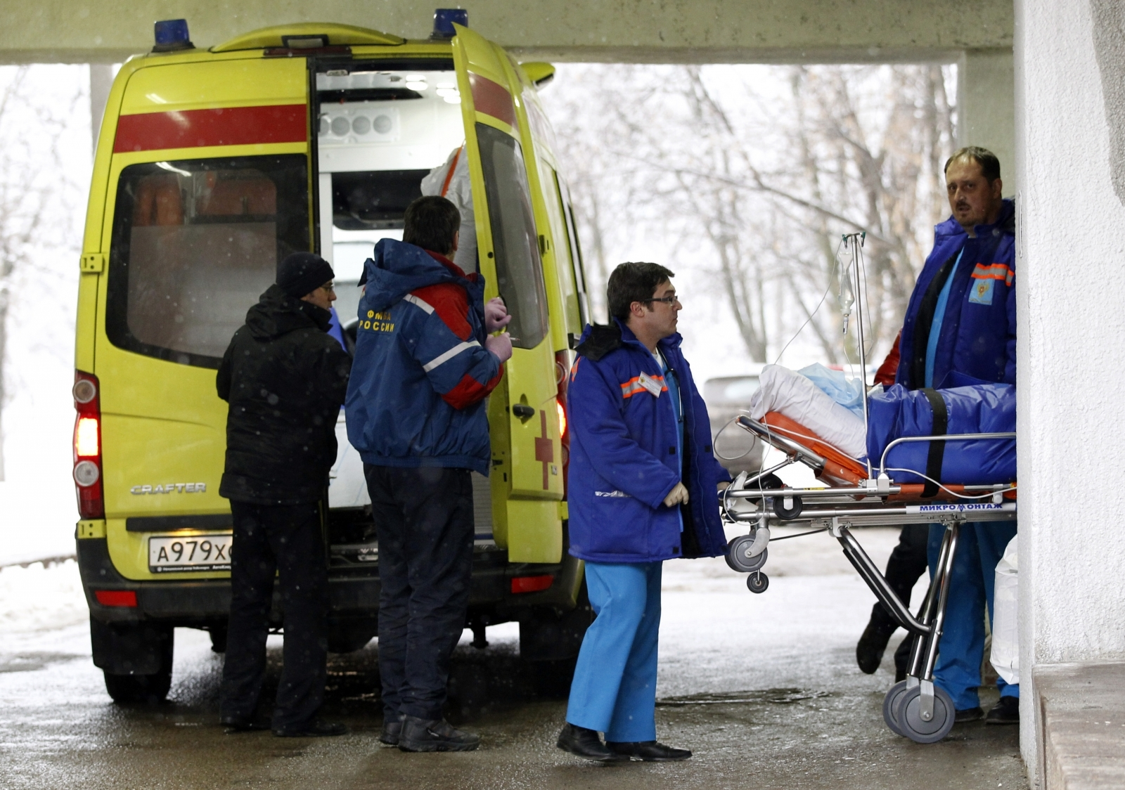 The deputy editor-in-chief for Russia's leading news radio station has been stabbed by an unknown attacker