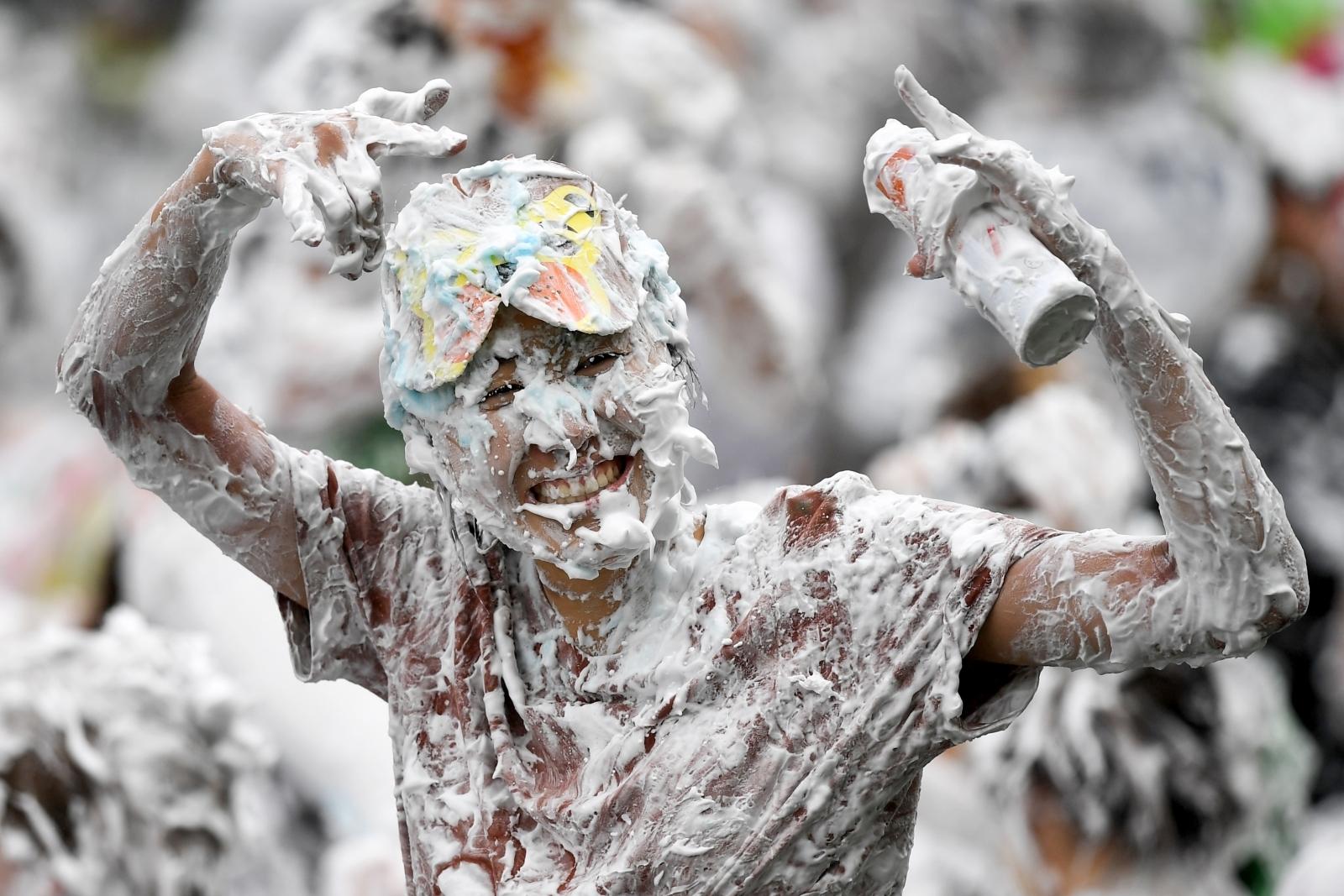 Raisin Monday St Andrews University foam