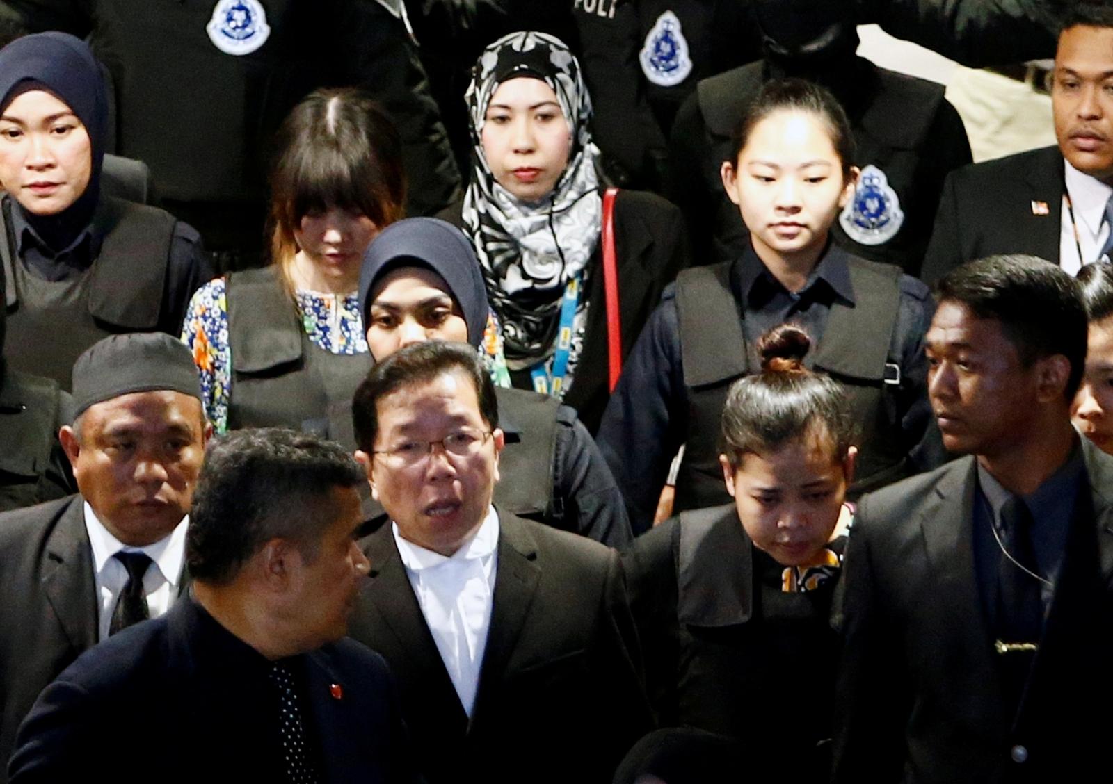 Indonesian Siti Aisyah and Vietnamese Doan Thi Huong