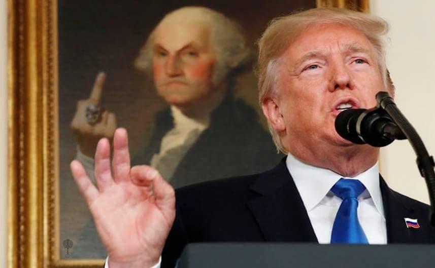 Trump middle finger