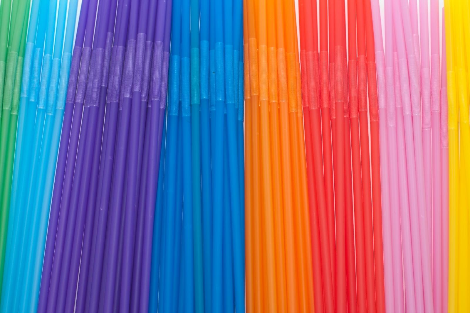 Multicoloured straws