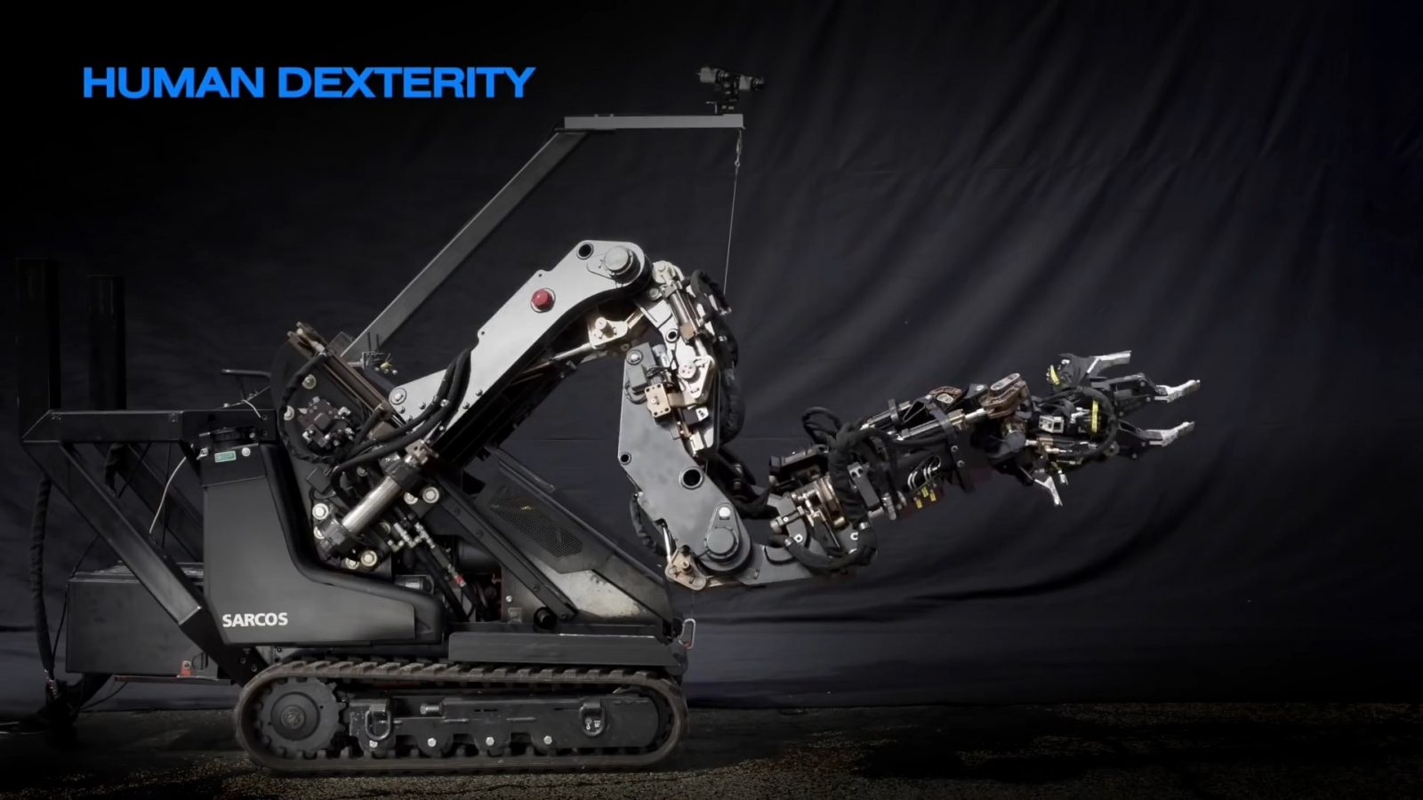 Watch this robot with 7ft long arms lift over 500lbs with ease