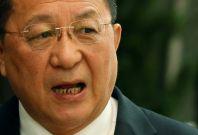 North Korean Foreign Minister Ri Yong-ho,