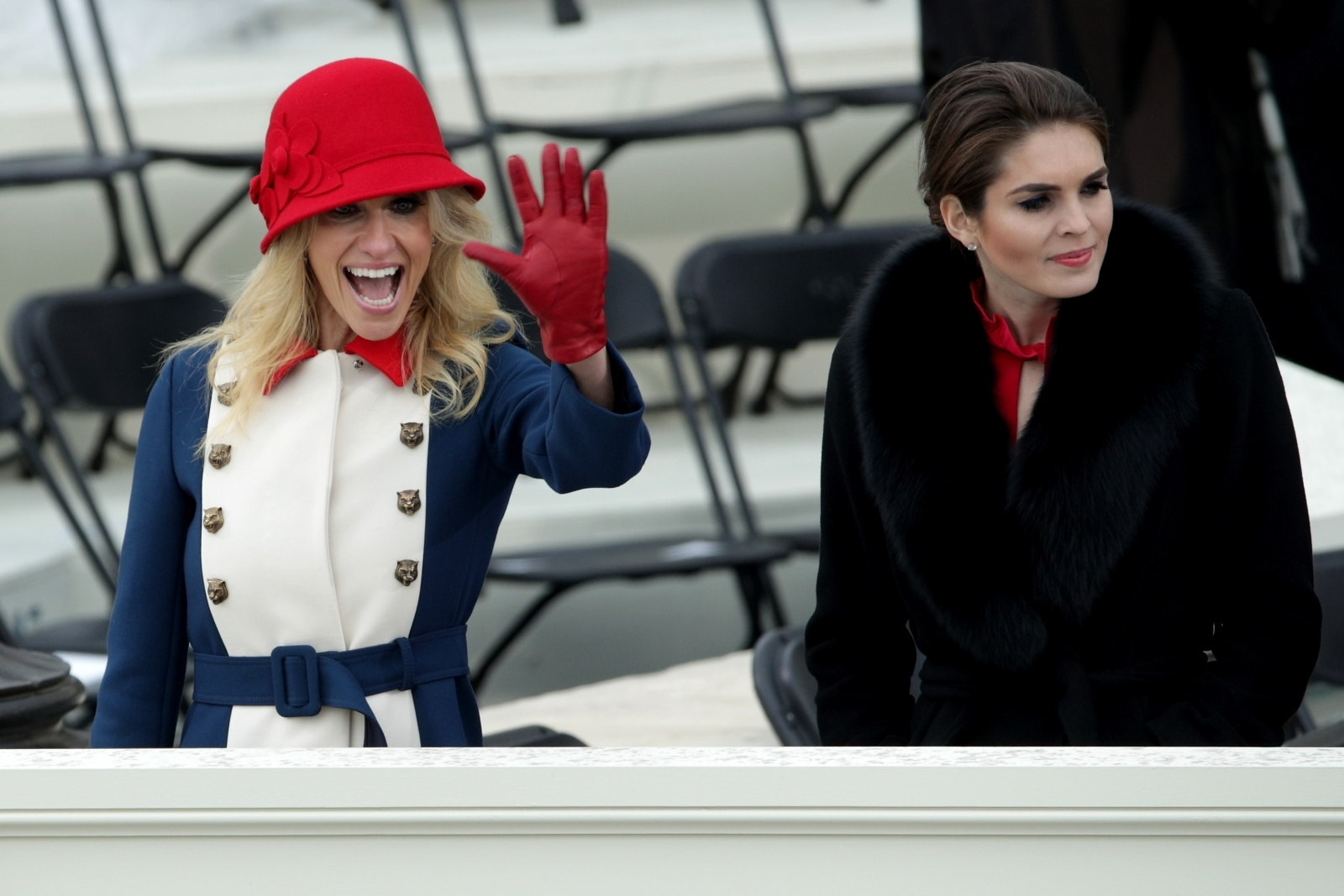 Kellyanne Conway pictured at the Trump inauguration