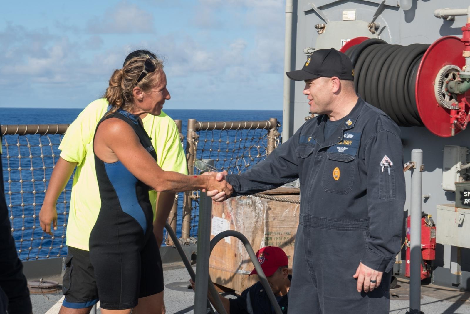 US mariner Jennifer Appel rescued
