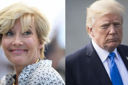 Emma Thompson and Donald Trump