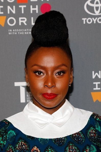 Chimamanda Ngozi Adichie attends the Eighth Annual Women In The World Summit at Lincoln Center for the Performing Arts on April 5, 2017 in New York City.
