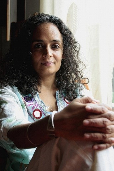 Arundhati Roy, celebrated writer, activist and winner of the Booker Prize for the book 'God of Small Things' at her home in Delhi, India