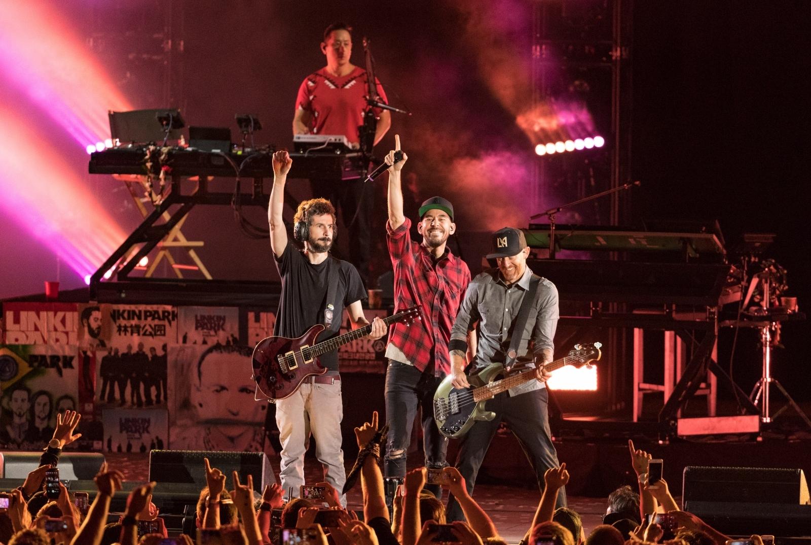 Linkin Park Brad Delsen Mike Shinoda Joe Hahn Dave Farrell