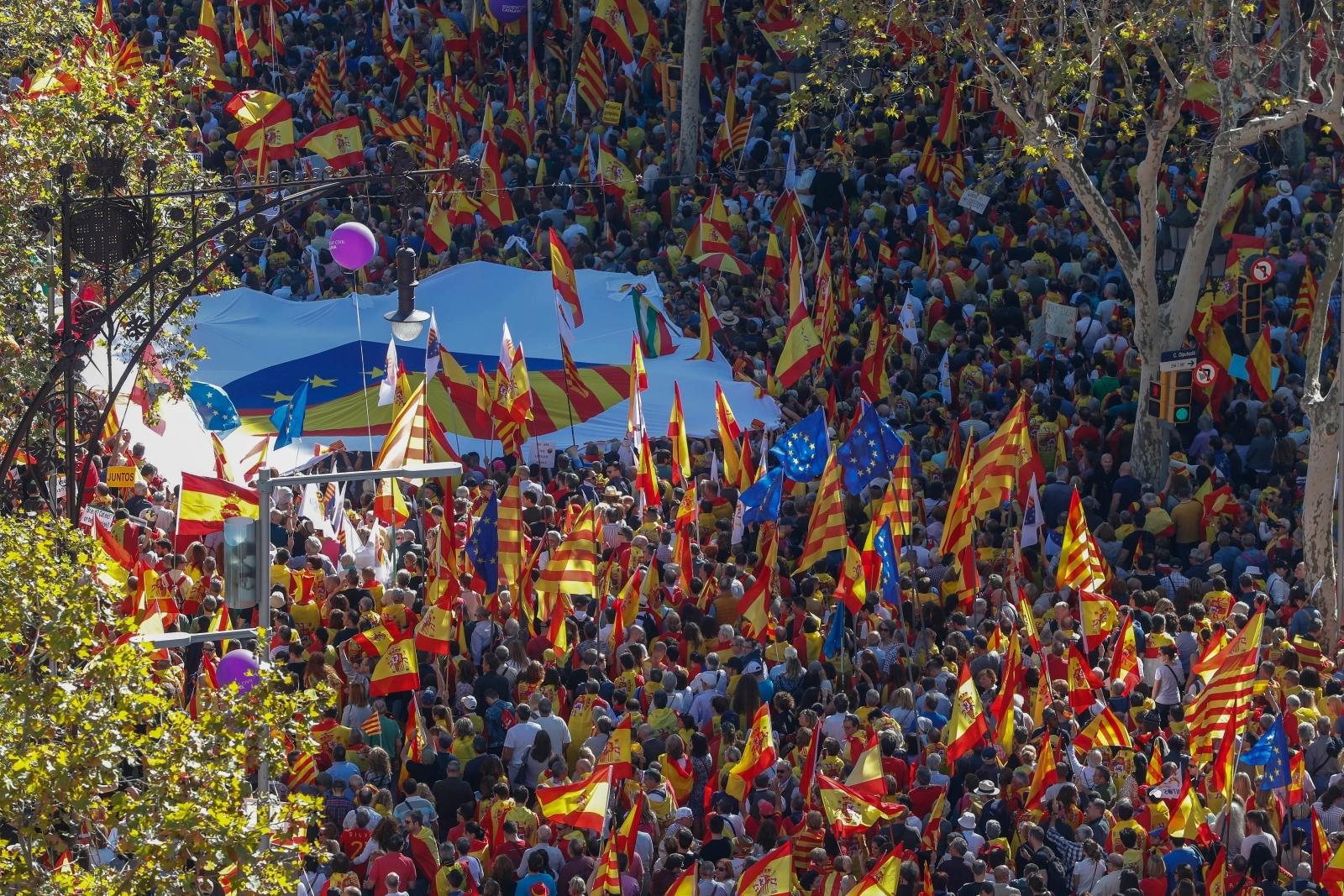 barca protests catalan 1
