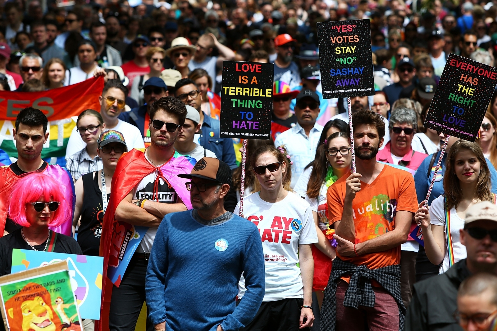 YES March For Marriage Equality Australia