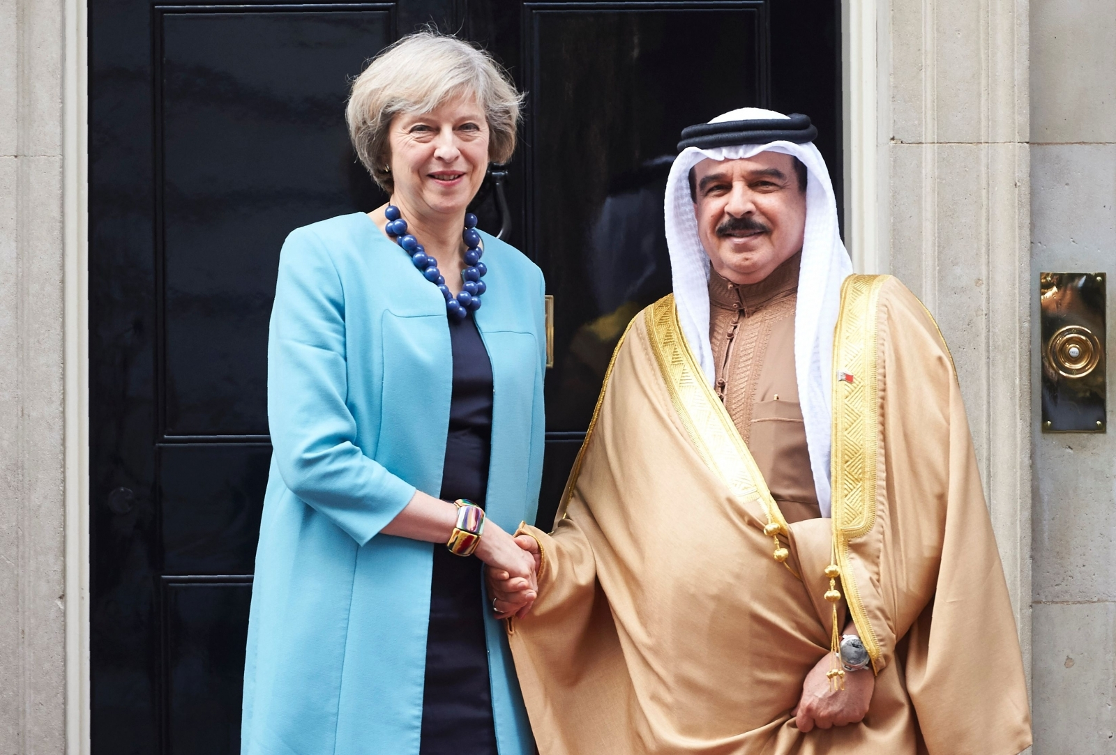 King Hamad of Bahrain Theresa May