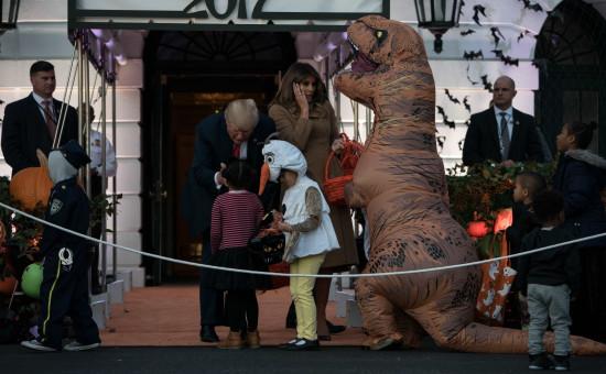 Donald and Melania Trump Halloween