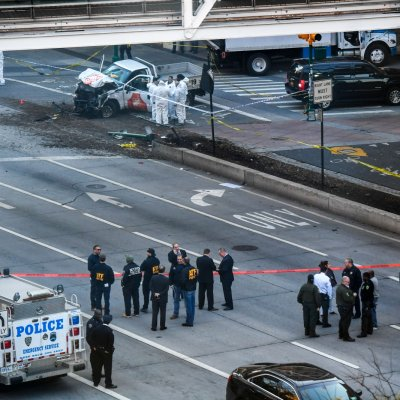 New York Truck Attack Suspect Seen Running Away From Vehicle