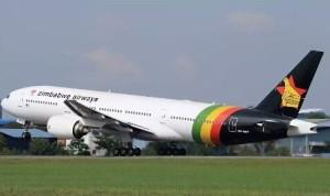A plane in Zimbabwe Airways livery begins a test flight