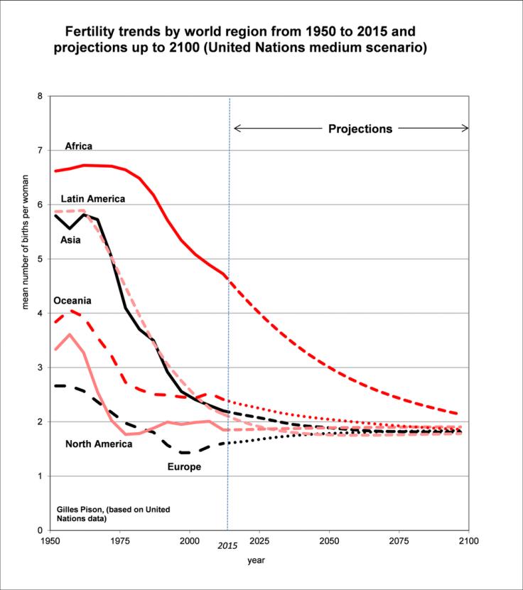 Fertility trends graph