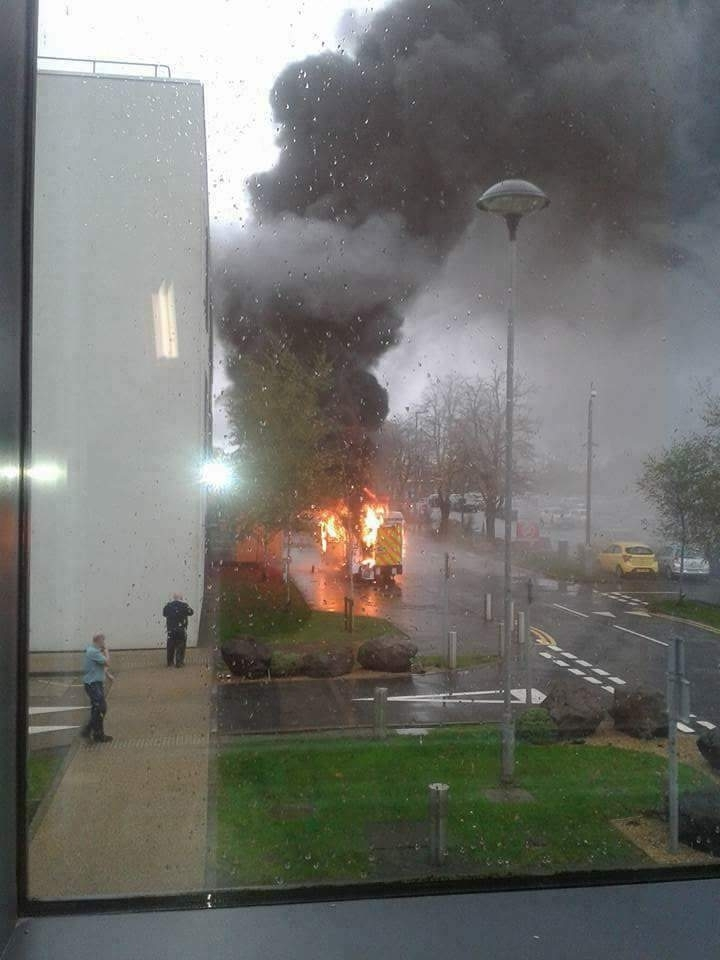 Glasgow ambulance explosion