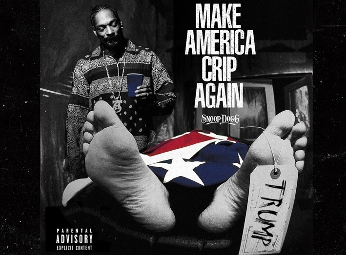 Snoop Dogg album art shows Trump in a body bag