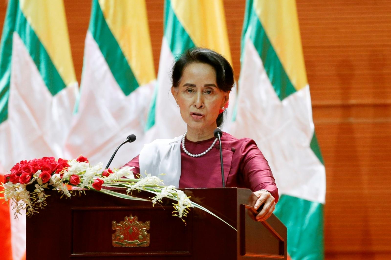Myanmar State Counselor Aung San Suu Kyi