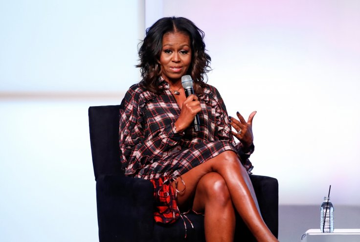 Michelle Obama Rocks Bikini Top And Shorts With Daughter