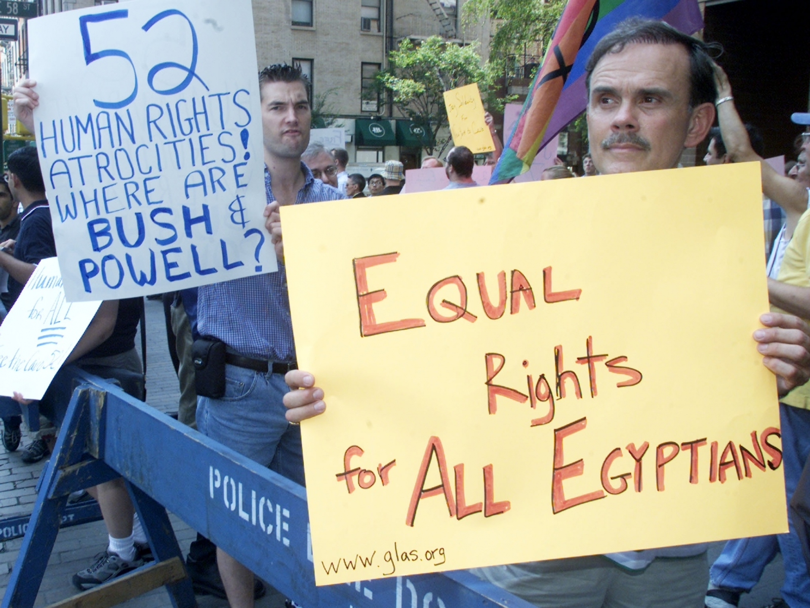 Activists protest against gay arrests in Egypt