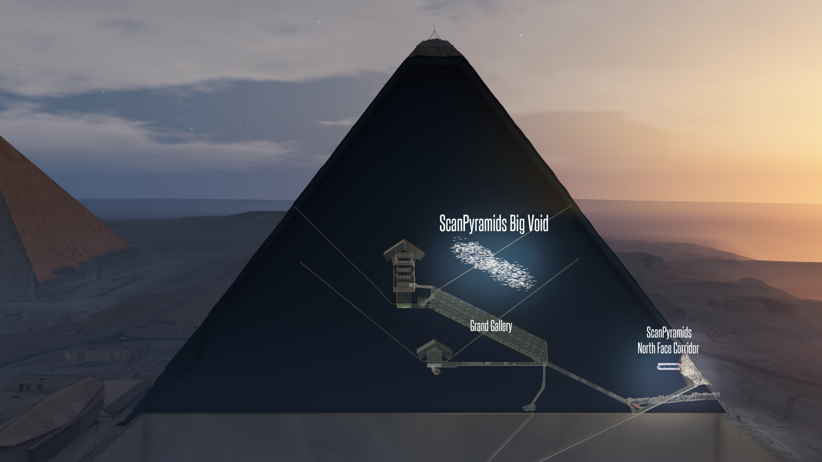 ScanPyramids Big Void 3D Artistic view horizontal option