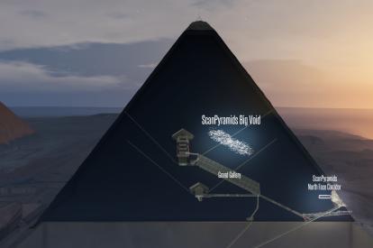 ScanPyramids Big Void 3D Artistic view horizontal option