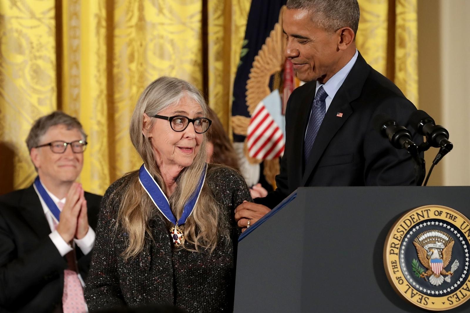 Obama awards Margaret Hamilton Medal of Freedom